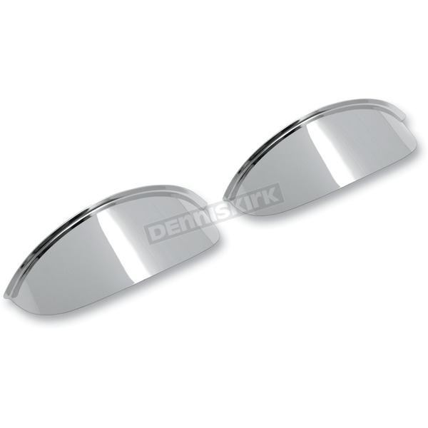 Drag Specialties Chrome 4 1/2 in. Chrome Spotlight Visors - 2001-0370