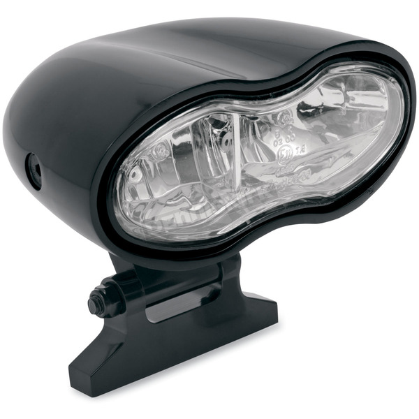 Drag Specialties Gloss Black Wave Headlight - 2001-0418