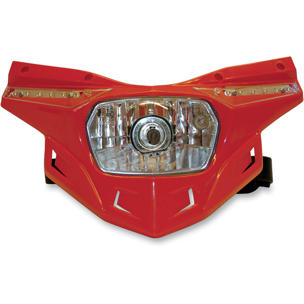UFO Red Lower Stealth Headlight - PF01714-070