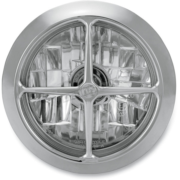 Performance Machine Chrome 5 3/4 in. Crossbar Visions Headlight - 02072004CBRCH