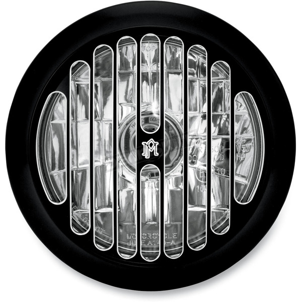 Performance Machine Contrast Cut 5 3/4 in. Grill Visions Headlight - 02072004GRLBM