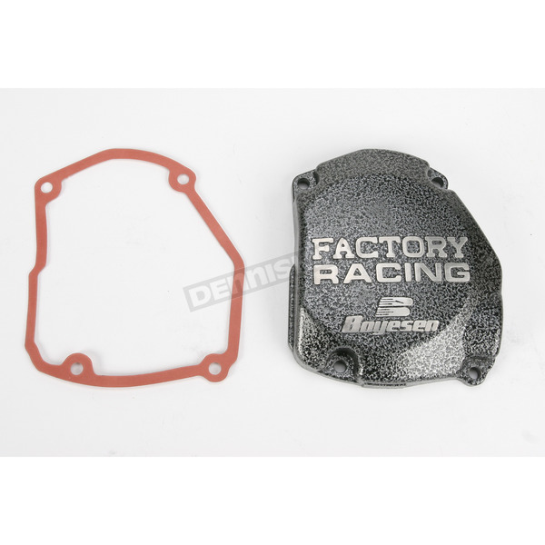 Boyesen Factory Racing Ignition Cover-Silver Vein - SC-21C