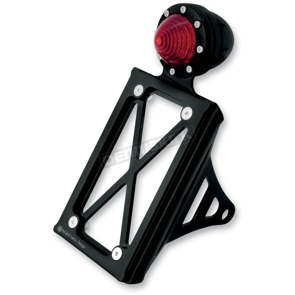Roland Sands Design Black Taillight License Plate Vertical Bracket - 0215-2008-BP