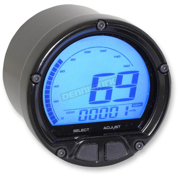 Koso North America DL-02S Speedometer for Koso Chrome Bullet Casing - BA555B15
