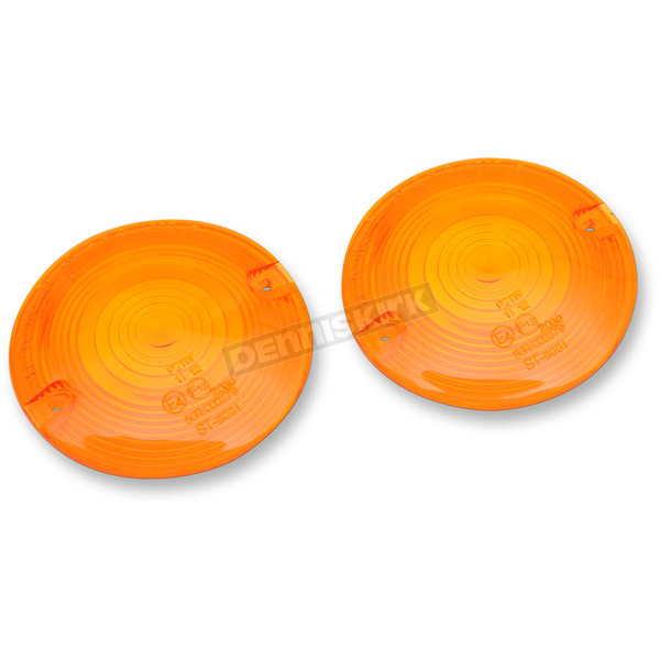 Drag Specialties Amber Replacement Turn Signal Lens  - 2020-0637