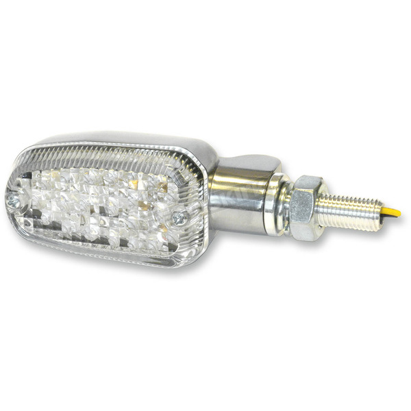 K & S Polished LED Turnsignals w/Clear Lens and Two-Wires - 26-7704