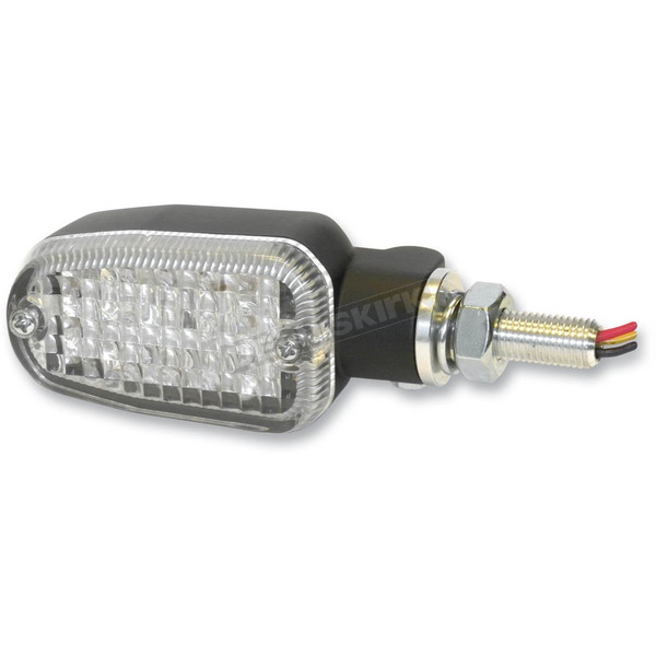 K & S Black LED Turnsignals w/Clear Lens and Three-Wires - 26-7705BK