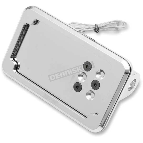 Cycle Visions Chrome In-Close Horizontal License Plate Holder - CV4600LH