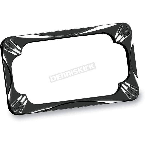 Arlen Ness Black Deep Cut License Plate Frame - 12-159