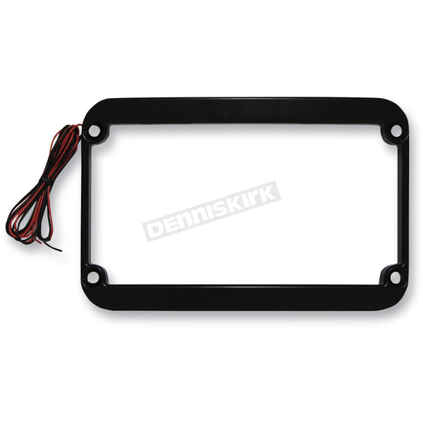 Klock Werks Black Lighted License Plate Frame - 2030-0804