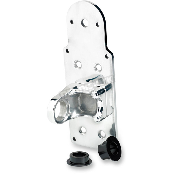 Biltwell Polished Vertical Axle Mount Solution License Plate and Taillight Bracket - LB-TOP-AL-PS