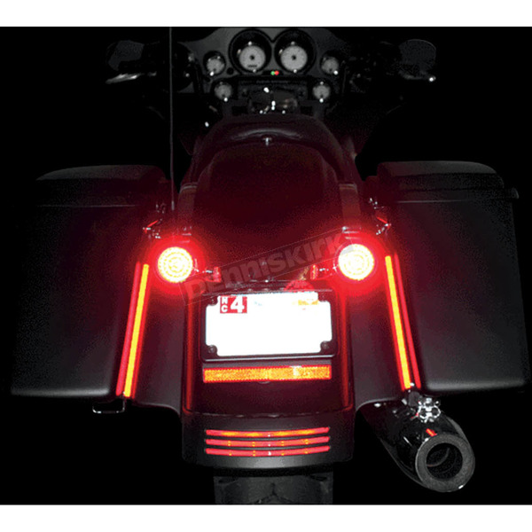 Custom Dynamics 8 Inch Mega Plasma Rods Custom Turn Signals/Brake Lights - MPLASMA-RED-PR