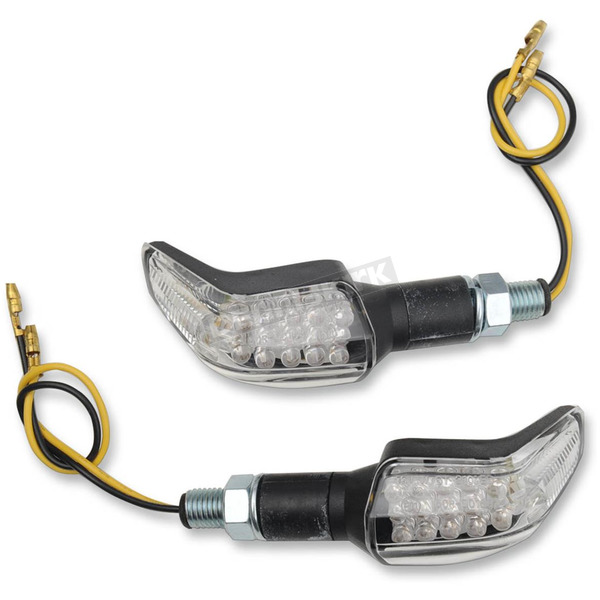 Competition Werkes 4 in. X 1 in. Melted LED Marker Lights with Black Matte Body - MPH-1210