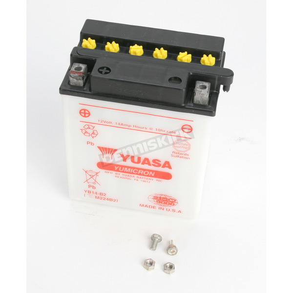 Yuasa Yumicron High Powered 12-Volt Battery - YB14-B2