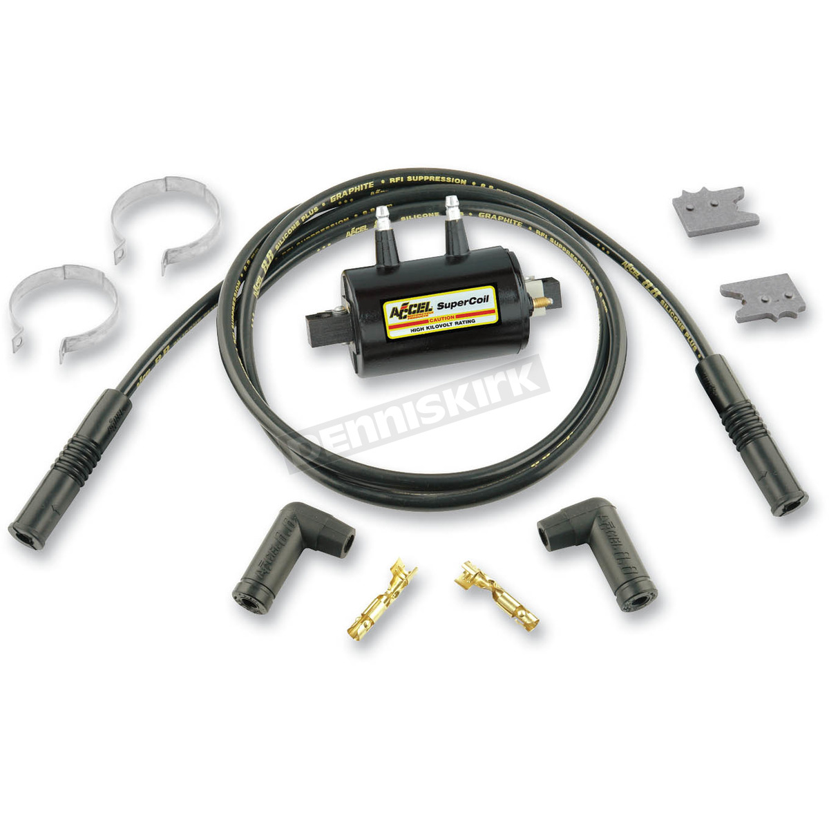 Accel 3.0 Ohms Super Coil Kit - 140405K Harley-Davidson Motorcycle on accel super coil wiring, accel distributor diagram, accel ecm wire diagram, hei ignition coil diagram, accel super stock coil 8140, accel ignition diagram, accel coil wire, accel hei ignition wiring, accel hei super coil distributor, ford ignition coil diagram, accel super coil 140001 installation, accel ignition coil pack, ignition coil circuit diagram,