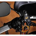 Black 7/8 in. - 1 in. Handlebar Power Outlet W/ Ram Ball Gadget Mount - PKT09060B