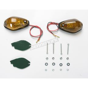 K & S Single Filament Tear Drop Marker Lights w/Smoke Lens - 25-8138