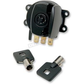 Drag Specialties Round Key Side Hinge Ignition Switch  - 2106-0181