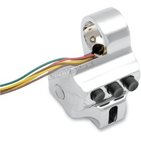 Performance Machine Chrome 4 Button Contour Switch Housing - 0062-2040-CH