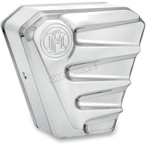 Performance Machine Chrome Scallop Horn Cover - 02182001SCACH