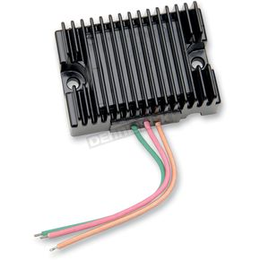 Drag Specialties Black Voltage Regulator - 2112-0861