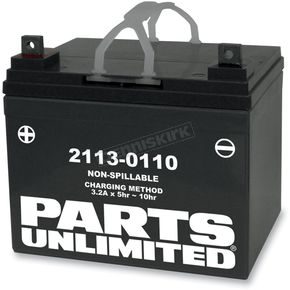 Parts Unlimited AGM Maintenance Free 12-Volt Battery - 21130110