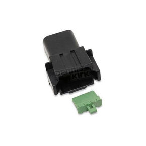 NAMZ Custom Cycle Products Deutsch Sealed Connector Black 8 Pin Receptacle - DR-8B