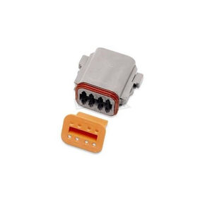 NAMZ Custom Cycle Products Deutsch Sealed Connector Gray 8 Socket Plug - DP-8G