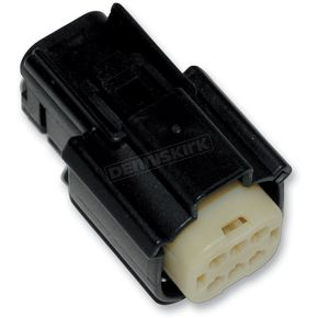 NAMZ Custom Cycle Products Black Molex MX 150 6-Pin Female Connector - NM-33472-0601