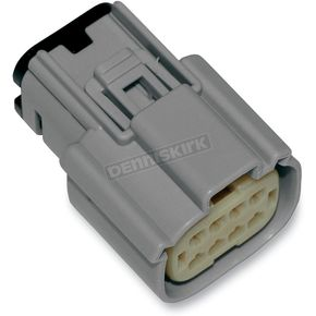NAMZ Custom Cycle Products Gray Molex MX 150 8-Pin Female Connector - NM-33472-0802