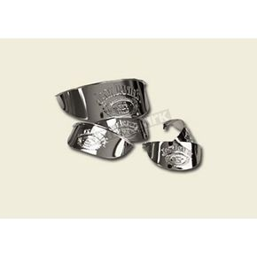 Jack Daniels 4 1/2 in. Chrome Spotlight Visor - JDA01C01SV