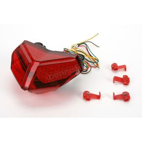 Clear Alternatives Integrated Turn Signal/LED Taillight Kit W/Red Lens - CTL0110ITR