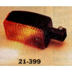 K & S Front Left/Right Turn Signal Assembly W/Amber Lens - 25-4055