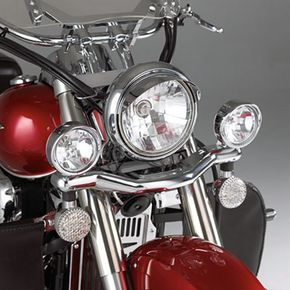 Show Chrome 3 1/2 in. Contour Driving Light Kit - 63-312