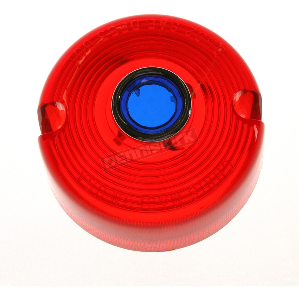 Chris Products Turn Signal Red Lens with Blue Dot - DHD2RB