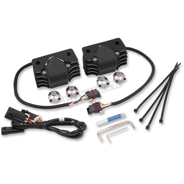 Accel Black Supercoil Kit with Polished Fins - 140414B