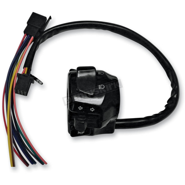 K & S Matte Black Univeral Turn Signal Switch - 12-0041B