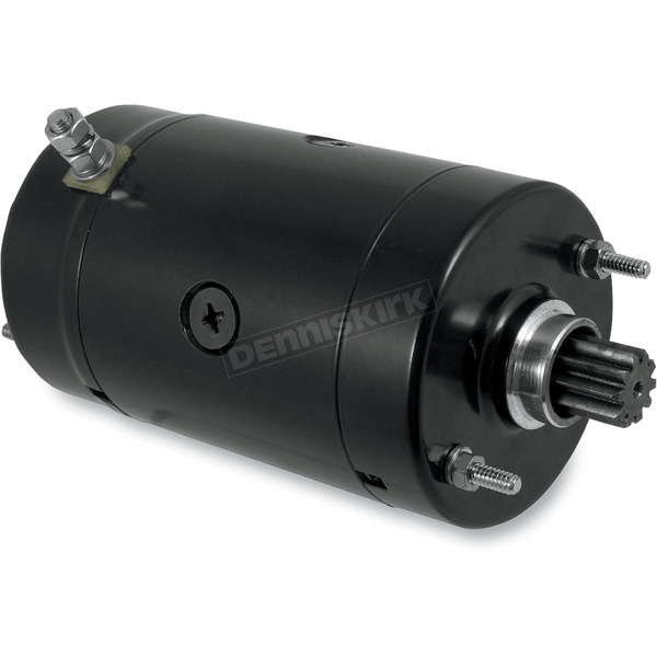 Drag Specialties Black High Torque Starter for Models Equipped w/Hitachi Starters - 2110-0225