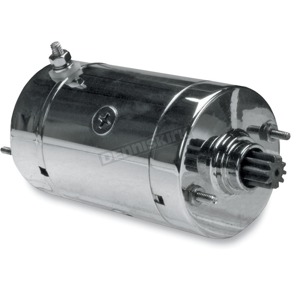 Drag Specialties Chrome High Torque Starter for Models Equipped w/Hitachi Starters - 2110-0226