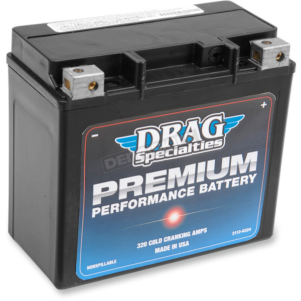 Drag Specialties Premium Performance 12-Volt AGM Battery - 2113-0324