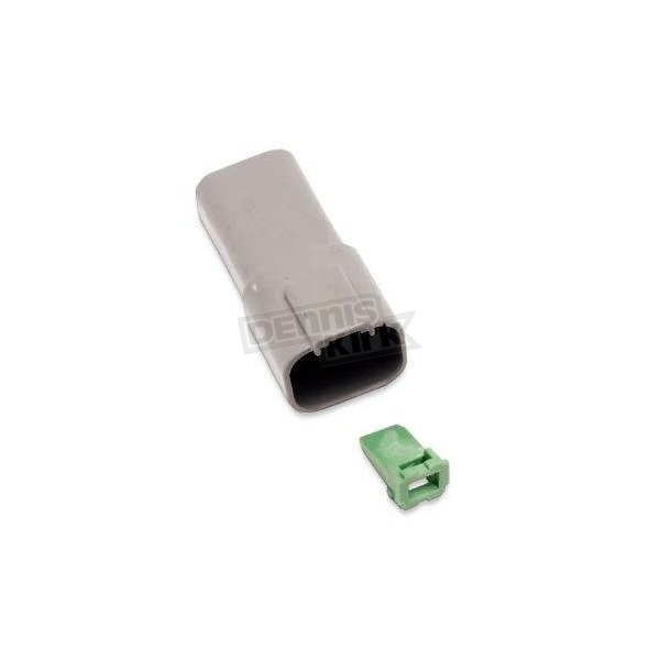 NAMZ Custom Cycle Products Deutsch Sealed Connector Gray 4 Pin Receptacle - DR-4G