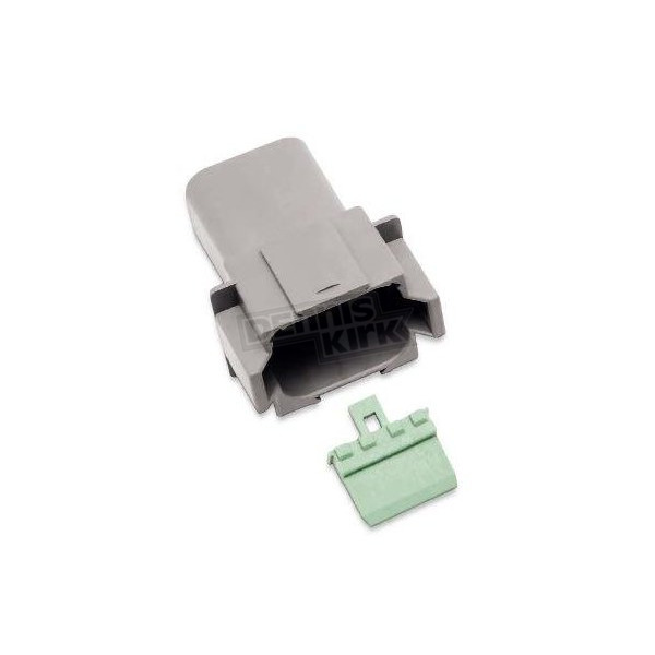 NAMZ Custom Cycle Products Deutsch Sealed Connector Gray 8 Pin Receptacle - DR-8G