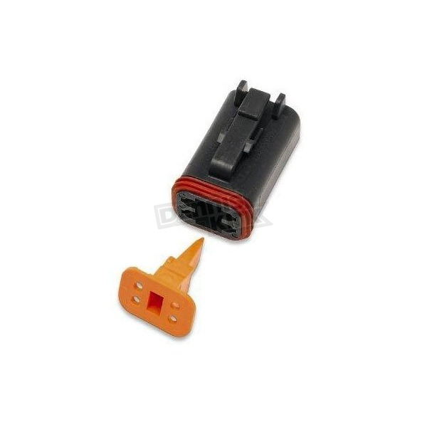 Deutsch Sealed Connector Black 4 Socket Plug - DP-4B
