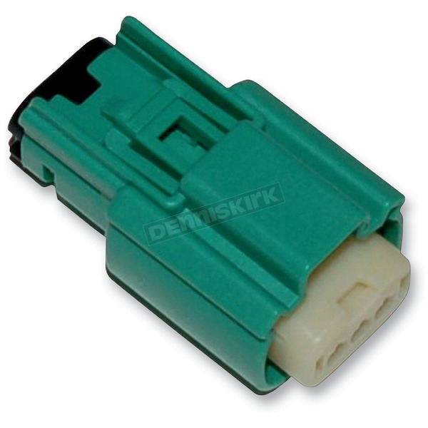 NAMZ Custom Cycle Products Green Molex MX 150 3-Pin Female Connector - NM-33471-0304