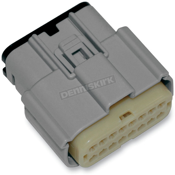 NAMZ Custom Cycle Products Gray Molex MX 150 16-Pin Female Connector - NM-33472-1602