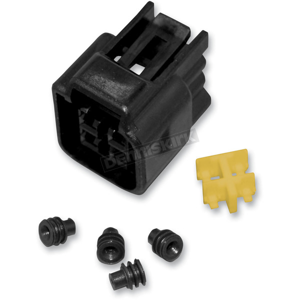 NAMZ Custom Cycle Products 4 Position Female Connector w/ Wire Seals, Terminals and Locking TPA - NC-FW04F
