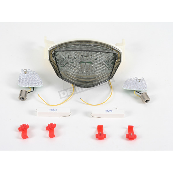 Clear Alternatives Crystal Clear Smoke Integrated Turn Signal/LED Taillight Kits - CTL0082ITS