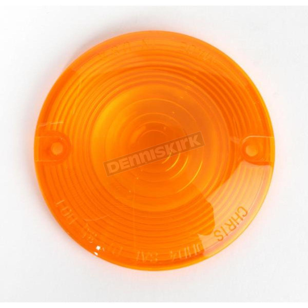 Chris Products Turn Signal Amber Lens for Models w/Flat Style Signal Housing - DHD4A