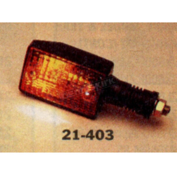 K & S Front Left/Right Turn Signal Assembly W/Amber Lens - 25-4075
