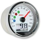 Chrome TNT-01S Speedometer w/White Face - BA035160